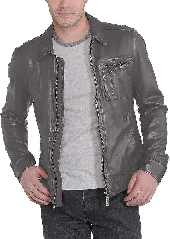 Black, Aviator Jacket 1501221 Laverapelle Mens Genuine Lambskin Leather Jacket