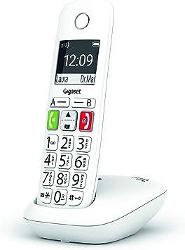 Gigaset E290 - Teléfono Fijo Inalámbrico con Teclas Grandes y Pantalla de Alta Visibilidad, Manos Libres, Compatible con audifonos: Gigaset: Amazon.es: Electrónica