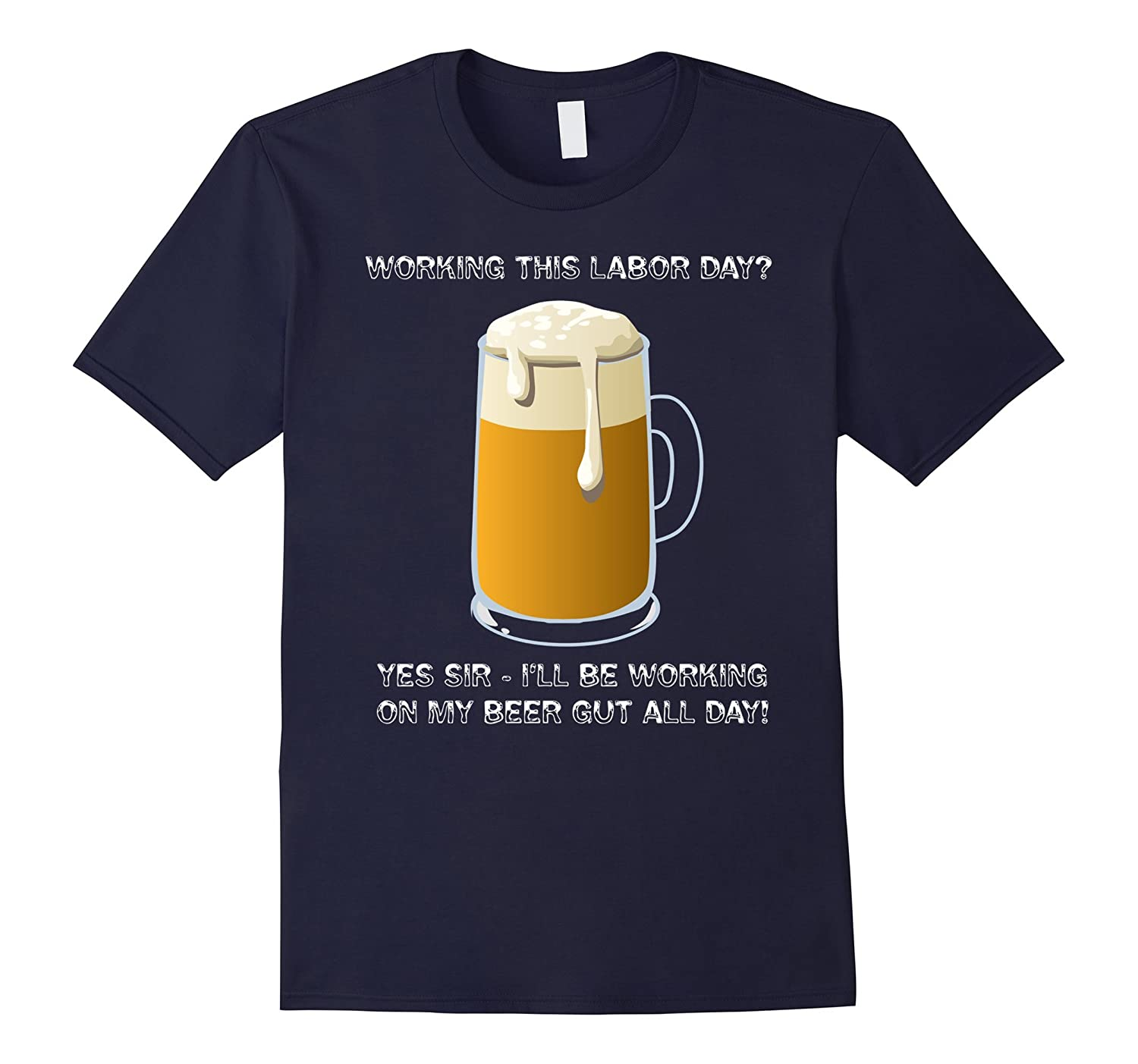 Funny Labor Day Shirt - Labor Day Beer Liver Workout T-Shirt-BN