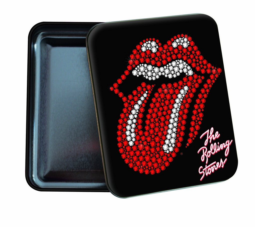 Quo Vadis–Scatola in metallo, decorazione con strass, motivo: Rolling Stones 253092Q