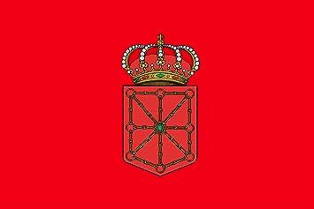 BPH NA150R Bandera de Navarra, Raso, 100 x 150 cm