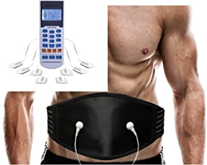 FDA Cleared HealthmateForever YK15RC 15 Modes Digital Portable Electrotherapy Pulse Massager Machine + Back Brace Belt Plus for Massaging Lumbar Support Weight Loss Waist Belt
