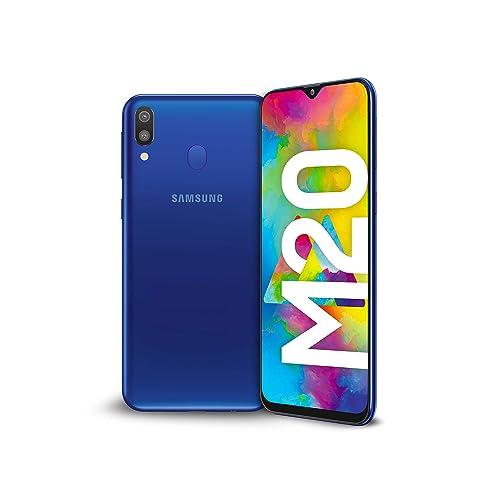 Samsung Galaxy SM M205FN DS 16 cm 6 3 4 GB 64 GB SIM Doble 4G Azul 5000 mAh Smartphone 16 cm 6 3 2340 x 1080 Pixeles 4 GB 64 GB 13 MP Azul