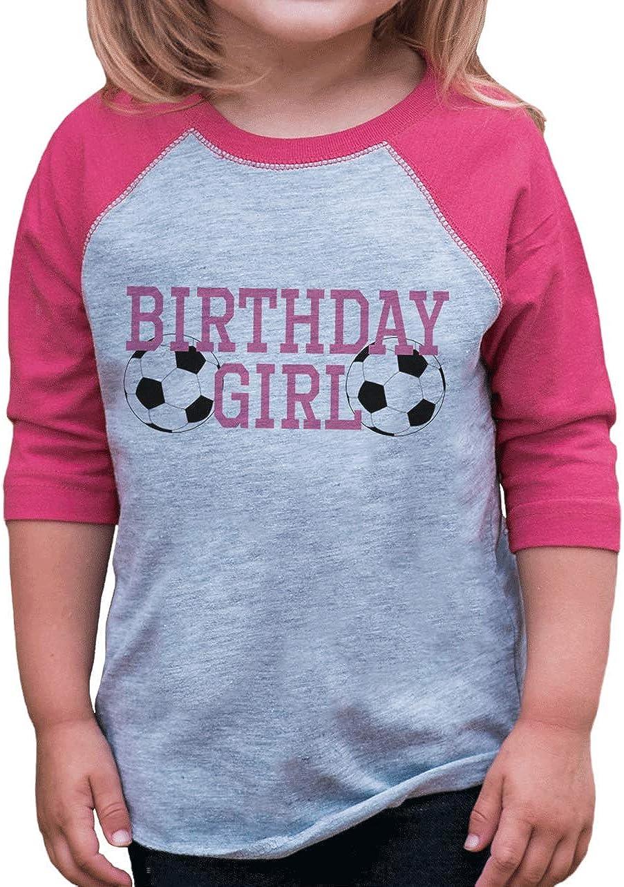 7 ate 9 Apparel Girls Soccer Birthday T-Shirt