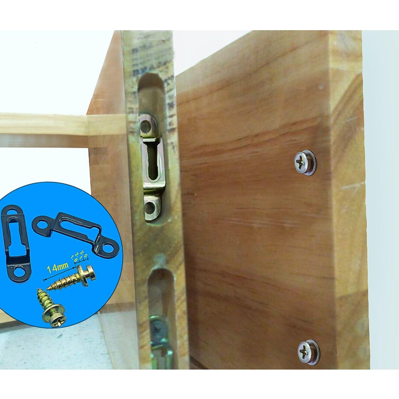 2/ensembles meubles Connexion Fittings invisible 2/en 1/connecteur dissimul/ée Combo mat/ériel Accessoires Slide Attaches