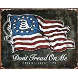 Don't Tread On Me - American Flag Tin Sign 16 x 13in