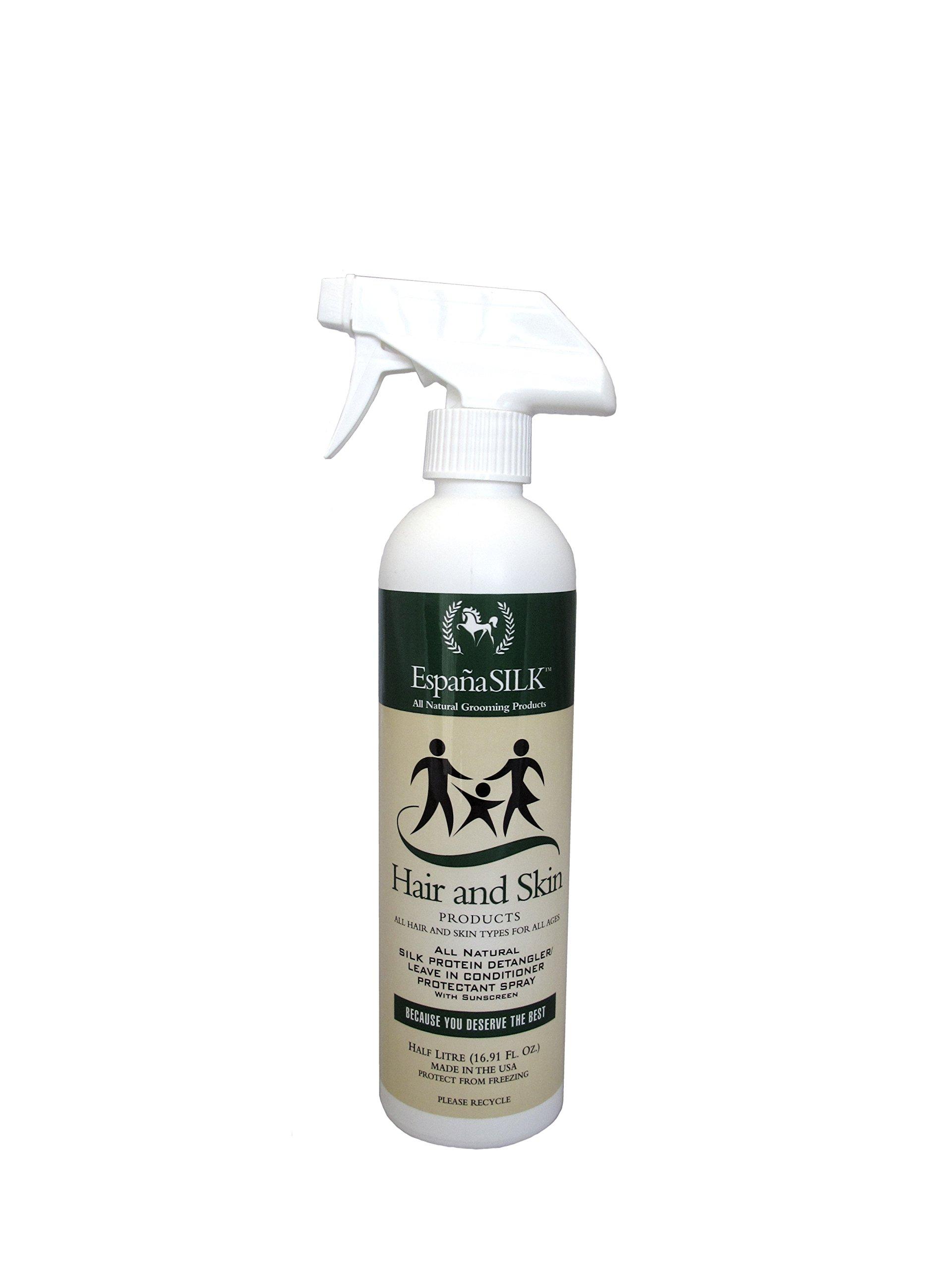 Espana Silk ESP1115P 16.91 oz Protein Detangler Protectant Spray with Sunscreen, 0.5 L