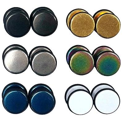Pendientes de dilataciones, fabricados con acero inoxidable, con banda de goma exterior, diseño