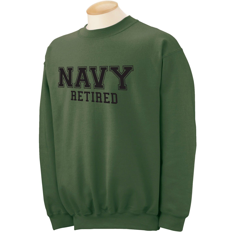 ZeroGravitee Navy Retired Black logo Military Style PT Crewneck Sweatshirt PA-1532