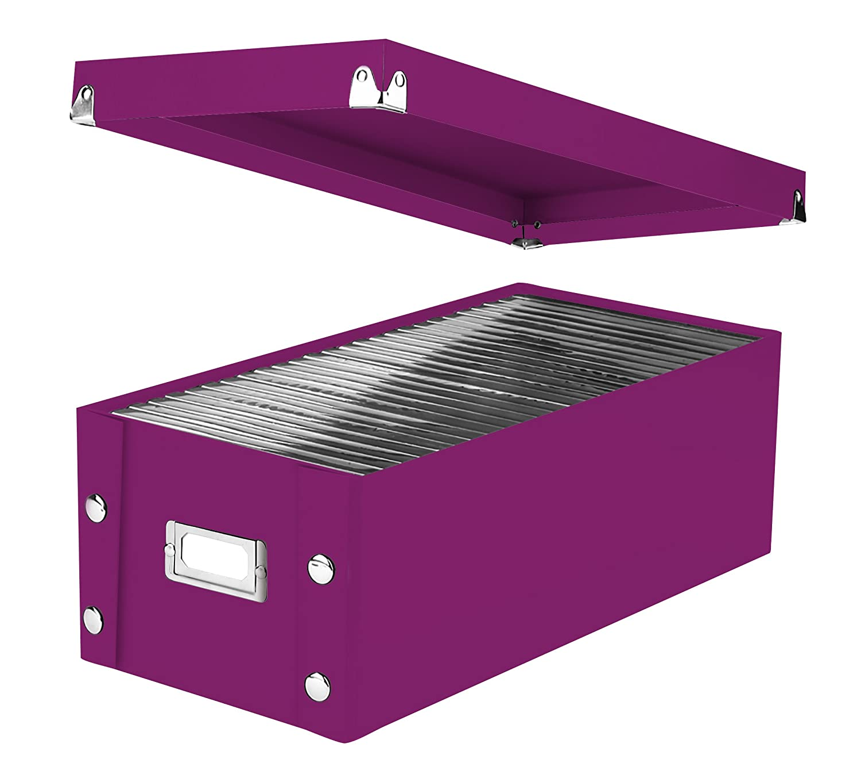 Snap-N-Store CD Storage Box SNS01913 Black//White Scroll