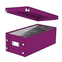 "Snap-N-Store DVD Storage Box, 6"" x 8.25"" x 16.5"", Berry (SNS03319)"