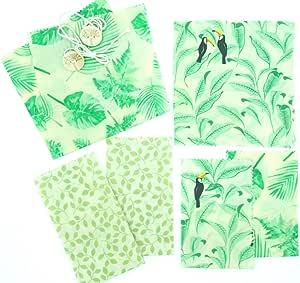 Beeswax Wrap - Envase de Cera de Abeja, 100% Natural, Reutilizable, Lavable, compostable ecológico, Tropical, Pack de 6: Amazon.es: Hogar