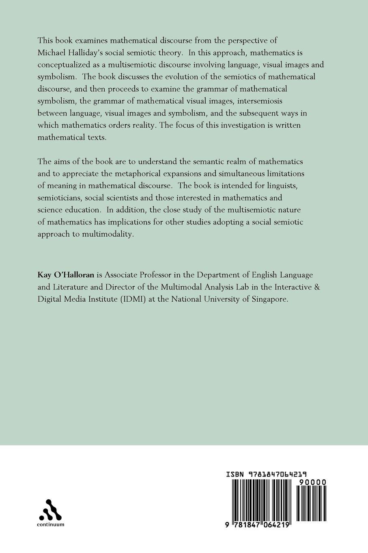 Mathematical Discourse: Language, Symbolism and Visual Images: Kay O ...