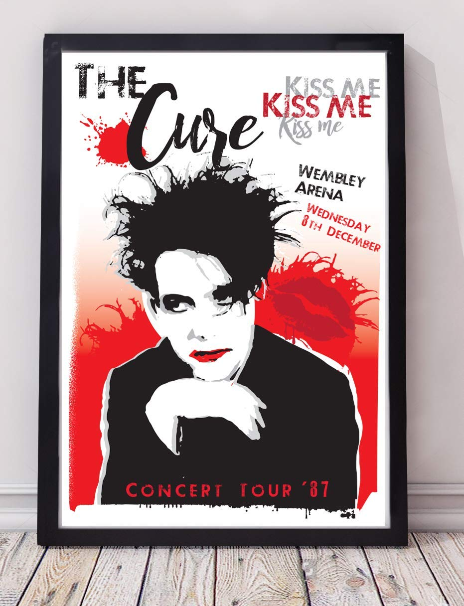 The Cure 1980s inspired art print poster Re-imagined and specially created