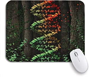 """Adowyee Gaming Mouse Pad DNA Damage Symbol As Dark Tree Forest Growing Green 9.5""""x7.9"""" Nonslip Rubber Backing Computer Mousepad for Notebooks Mouse Mats"""