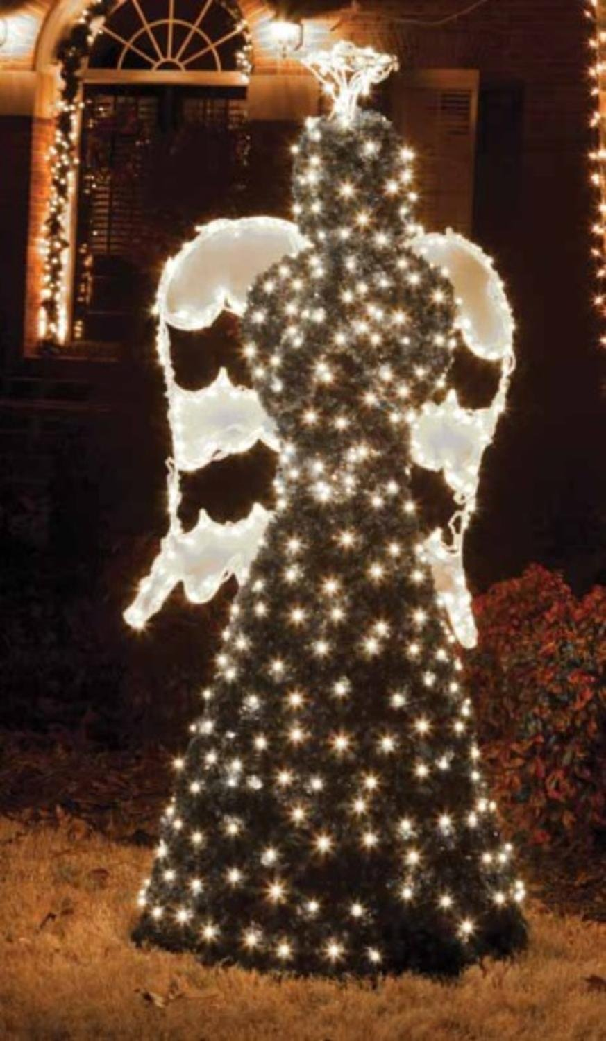 Northlight  Giant Commercial Grade LED Lighted Angel Topiary Yard Art Christmas Decoration, 6.5'