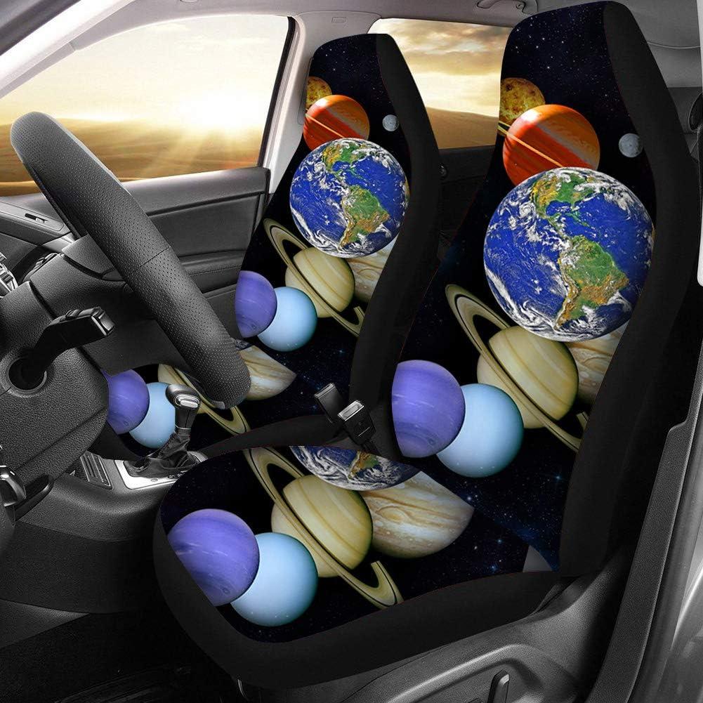 universelle Passform f/ür die meisten Autos LKWs Vordersitzschutz Lieferwagen SUVs Woisttop Bichon Fris/é-Blumen-Autositzbez/üge