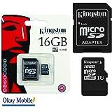 Original Kingston MicroSD Speicherkarte 16GB Für Samsung Galaxy A5 2016 SM-A510F