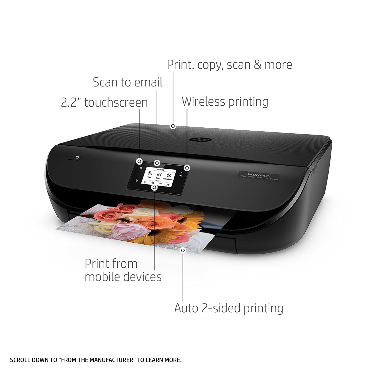 Amazon HP Envy 4520 Wireless Color Printer with Scanner and Copier with Ink Bundle Electronics