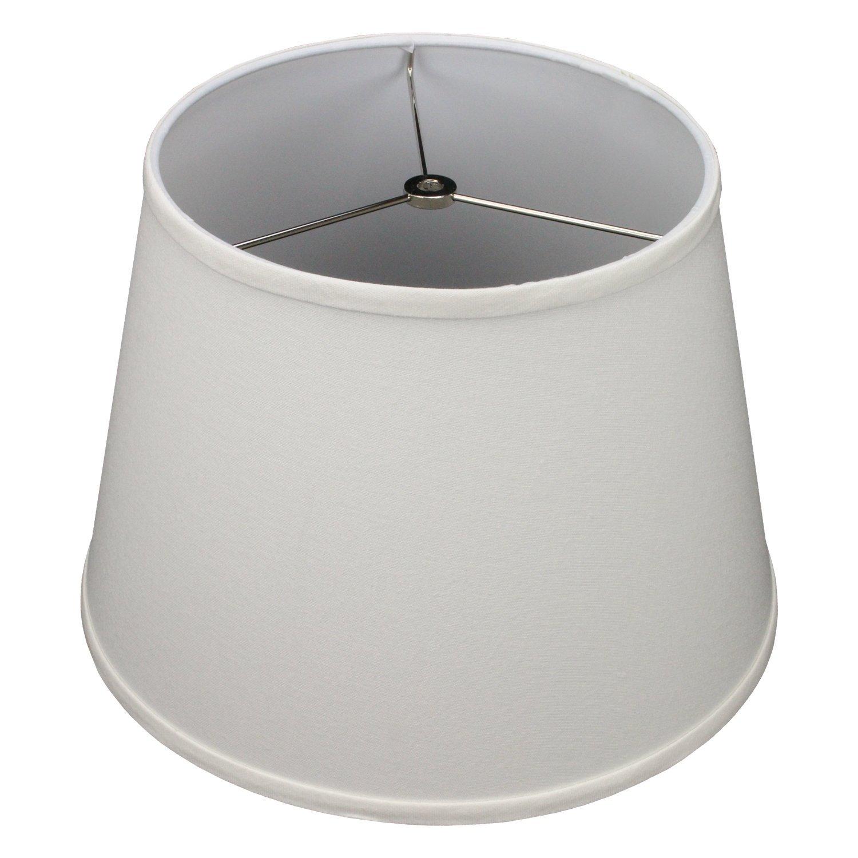 FenchelShades.com 10'' Top Diameter x 14'' Bottom Diameter 10'' Slant Height Lampshade USA Made (Cream)