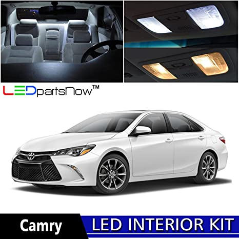 LEDpartsNow 2015 2017 Toyota Camry LED Interior Lights Accessories  Replacement Package Kit (10 Pieces