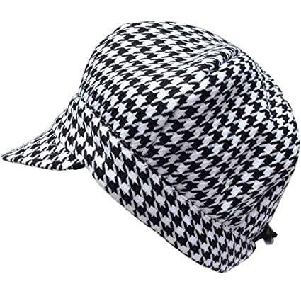 e76b5535 Baby newsboy cap for spring summer fall - adjustable 50+ UPF sun hat(S:  0-9M, Black Houndstooth): Amazon.ca: Clothing & Accessories