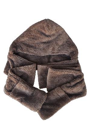 e84300697119c SODIAL(R) Femmes Epais Gant Chapeau Bonnet Capuche Plush Echarpe Chale  Earflap Hat Gloves