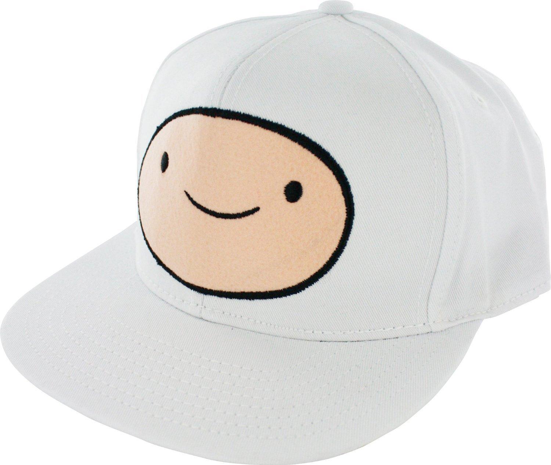 Adventure Time Men's Snapback Cap: Finn White Bioworld CART502