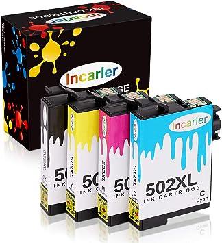 Incarler 502 XL Cartuchos de Tinta Compatible con Epson 502XL para ...