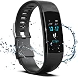 Fitness Tracker HR, Y1 Activity Tracker Watch with Heart Rate Monitor, Pedometer IP67 Waterproof Sleep Monitor Step…