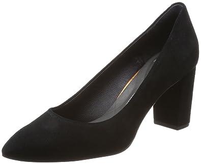 Total Motion Violina Luxe Pump, Zapatos de Tacón con Punta Cerrada para Mujer, Negro (Black), 37.5 EU Rockport