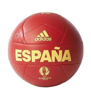 adidas Euro16 OLP Esp C - Balón, color rojo / amarillo
