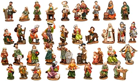 Articoli Religiosi by Paben Set 36 Personaggi presepe cm. 9 in