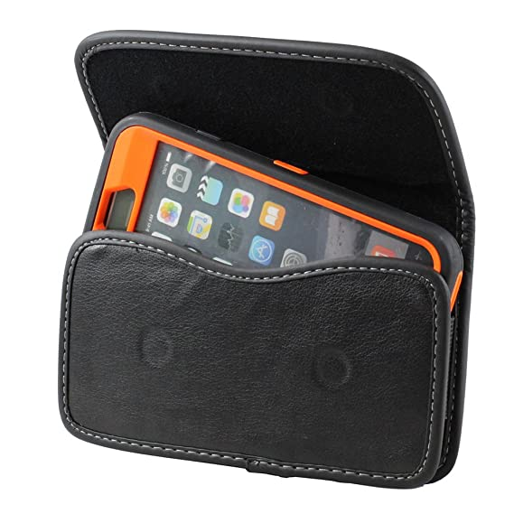 best loved 5bef4 8e0d6 XXL SIZE LG K20V / LG K20 plus / LG Harmony Premium Leather Belt Clip Pouch  Case Cover Holster (Fits Phone with OTTER BOX SYMMETRY / Defender / ...