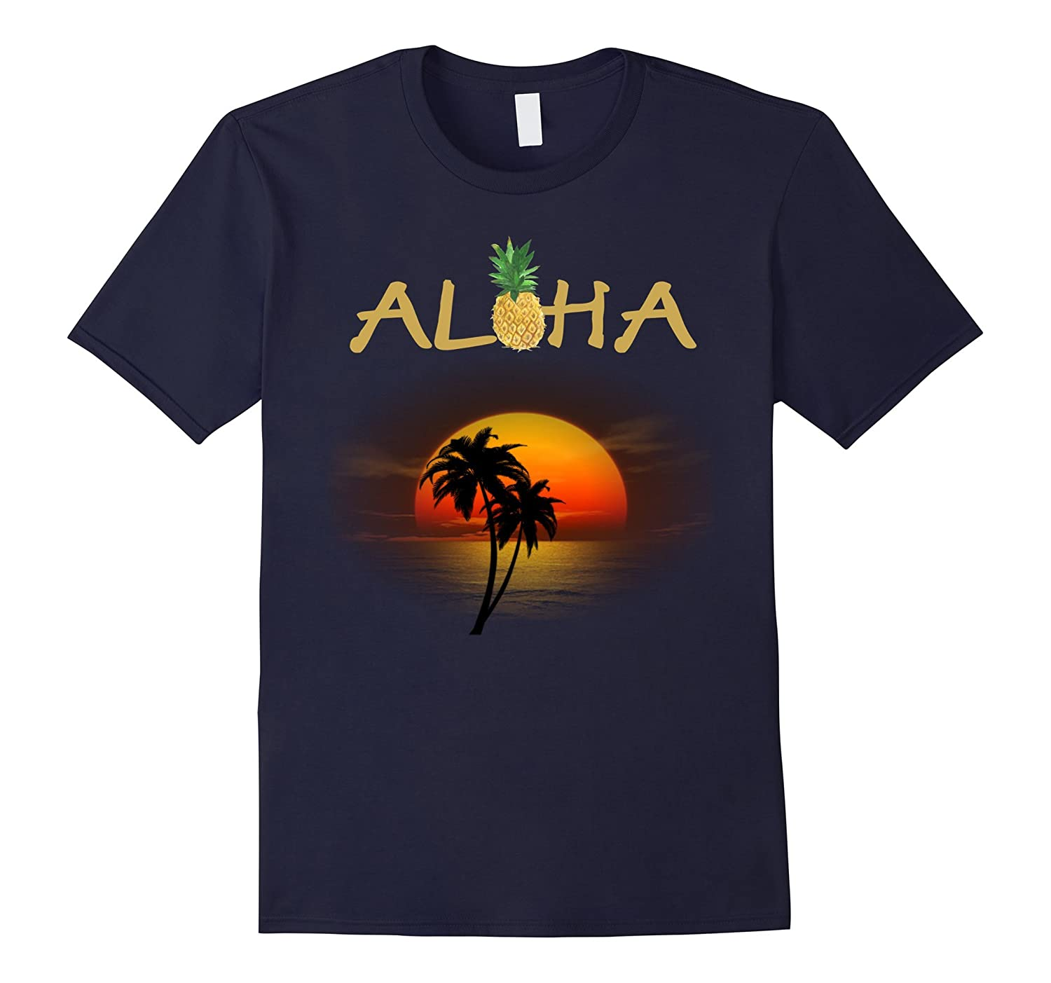 Aloha hawaiin PalmT-shirt with awesome Sunset-T-Shirt