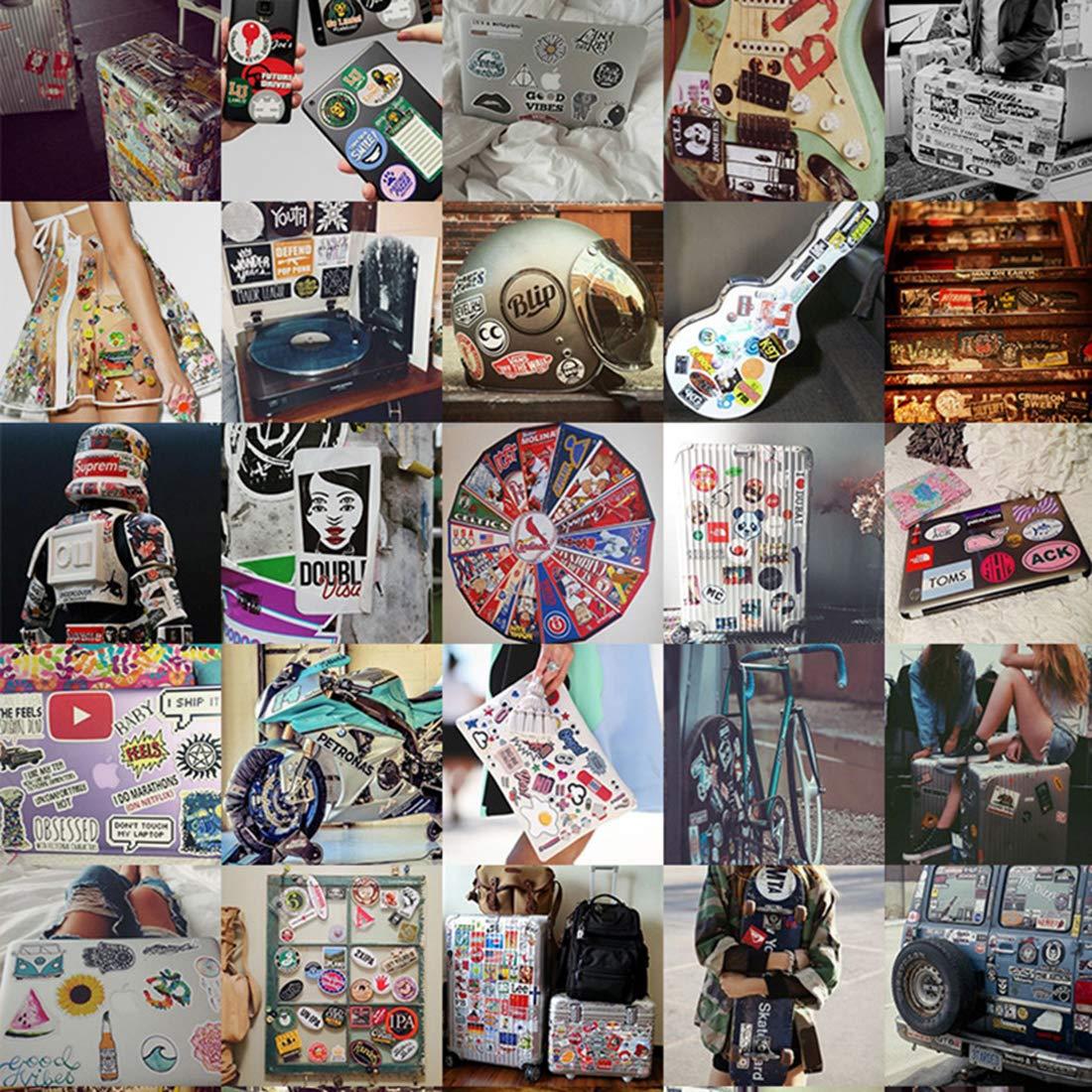 AllRing 50 St/ück Aufkleber Wasserdicht Aufkleber Vinyl Stickers Graffiti Decals f/ür Auto Motorr/äder Fahrrad Skateboard Snowboard Gep/äck Laptop Computer Aufkleber