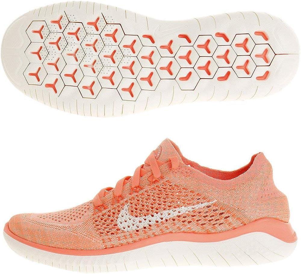 Nike WMNS Free Rn Flyknit 2018 Womens 942839 801 Size 5.5, Crimson PulseSail
