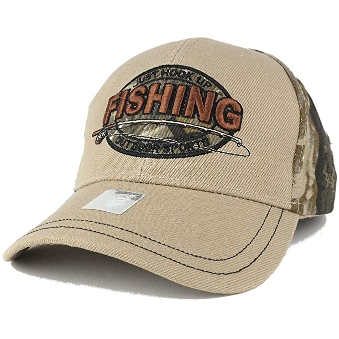 Just Hook Up >> Trendy Apparel Shop Just Hook Up Fishing Outdoor Sports Embroidered Adjustable Baseball Cap