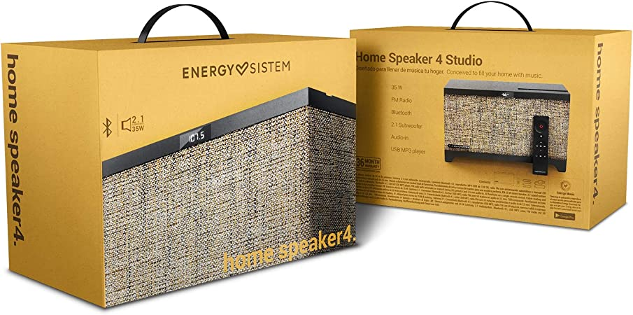 Home Speaker 4 Studio Uk Version 35 W Bluetooth Usb Mp3 Fm Radio Audio In Remote Control Amazon Co Uk Hi Fi Speakers