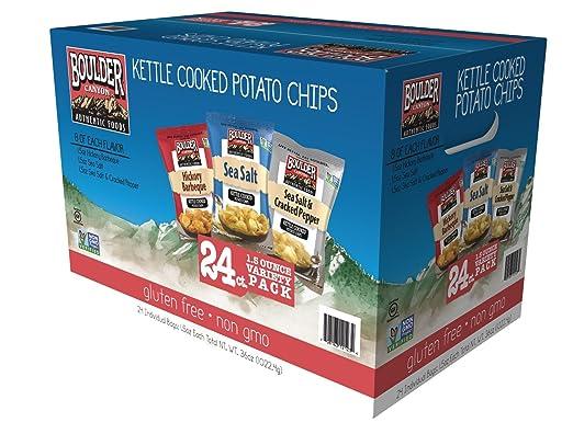 Boulder Canyon Chips de patatas fritas cocinadas, corte de ...
