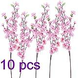 Vasyle simulazione Peach Blossom false Flower simulazione pesca albero un albero 65cm 10 pezzi pink