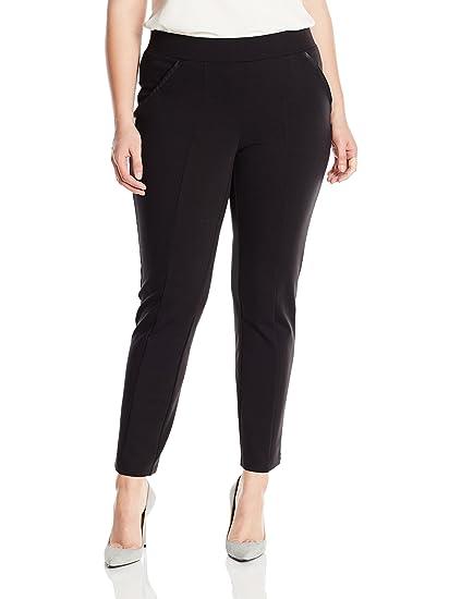 5a4ab3e5f734d Rafaella Women s Plus-Size Ponte Comfort Fit Slim Leg Pants at Amazon  Women s Clothing store