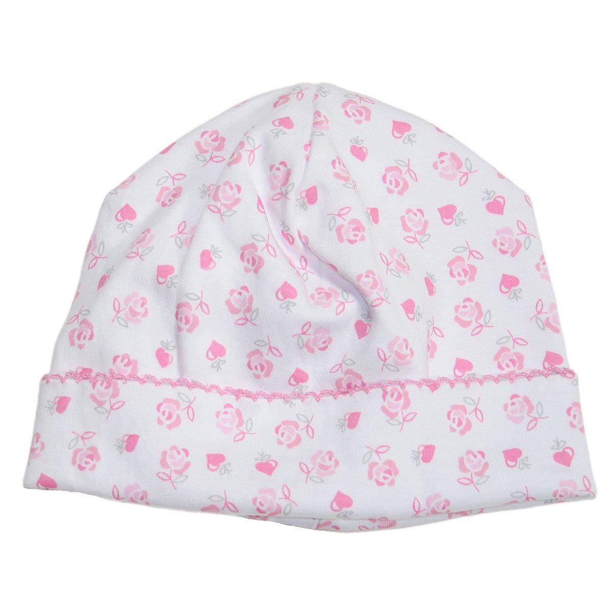 Kissy Kissy Baby Hearts and Roses Print Hat