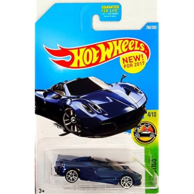 Hot Wheels 2020 HW Exotics '17 Pagani Huayra Roadster 290/365, Blue: Toys & Games