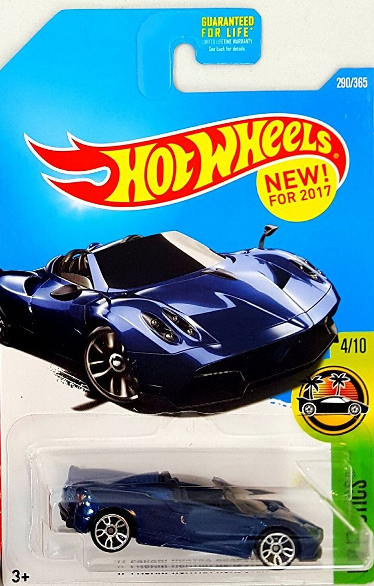 Chic Hot Wheels 2017 HW Exotics U002717 Pagani Huayra Roadster 290/365, Blue