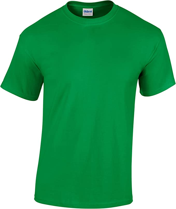 XXL IN Nero /& Bianco 5 Pezzo Gildan Pesante Cotone T-Shirt Uomo Maglietta S
