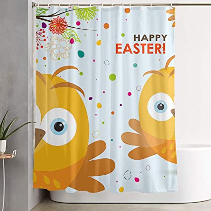 Amazon Com Bonsai Tree Easte Chicken Eggs Funny Fabric Shower