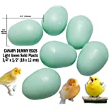 """Dummy Eggs - Fake Bird Eggs for CANARY. Light Green Solid Plastic Realistic Shape Small Plump 3/4"""" inch long x 1/2 inch wide (18 x 12 mm) Stop Egg Laying!"""