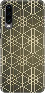 Stylizedd Huawei P30, Slim Snap Basic Case Cover Matte Finish - Hexarab