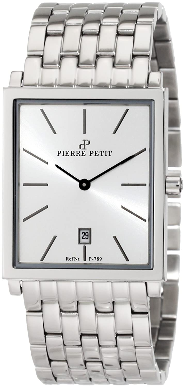 Pierre Petit Herren-Armbanduhr Nizza Analog Edelstahl P-789E